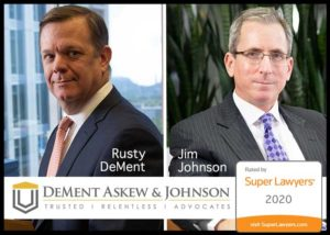 Rusty DeMent & Jim Johnson are included in North Carolina Super Lawyers 2020