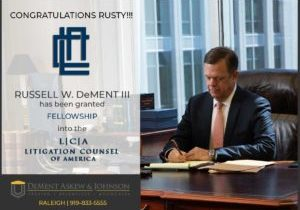 Russell W. DeMent is a Litigation Counsel of America Fellow
